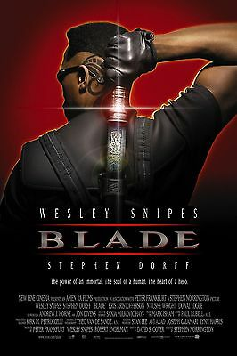 Blade Laminated Mini Movie A4 Poster Wesley Snipes Style 2 Marvel