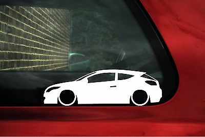 2x LOW 'Renault megane RS sport Mk3 lowered outline stickers, decals