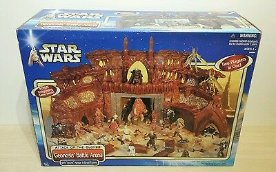 STAR WARS Attack of the Clones - GEONOSIS BATTLE ARENA NEW SEALED BOXED VINTAGE