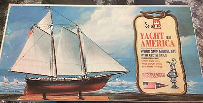 "Scientific YACHT 1851 AMERICA Wood Ship Model Kit 17"" Length"