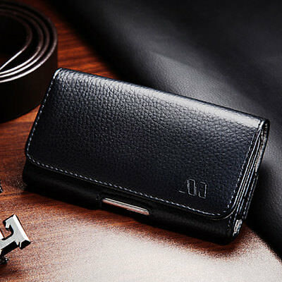Executive Premium Belt Loop Cell Phone Clip Pouch Holder Case Strap Black Gray