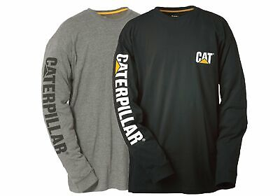 New Caterpillar Mens Trademark Banner Long Sleeve Top