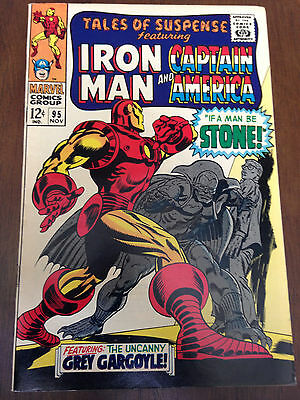Tales Of Suspense # 95 Vf Iron Man Captain America Red Skull Grey Gargoyle