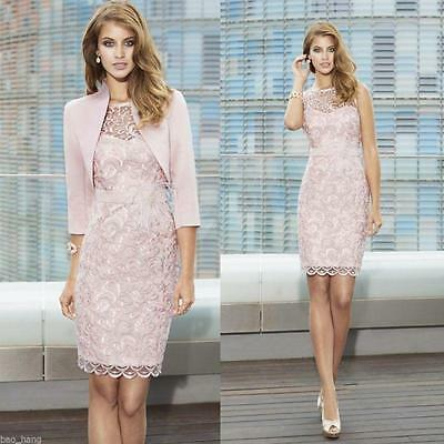 New Free Jacket Lace Mother of the Bride Dress Knee Length Formal Dresses Custom
