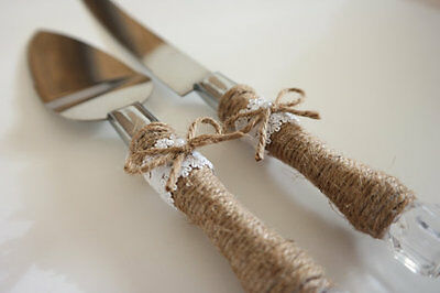 Cake and Knife Rustic Wedding Serving Set - FREE SHIPPING !!