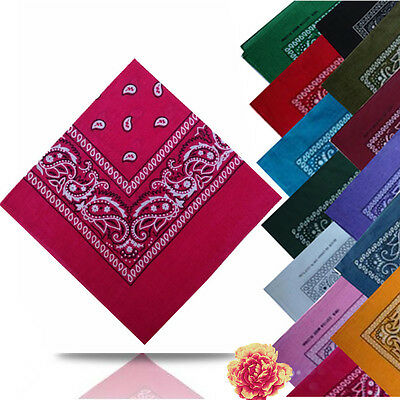 New Fashion Womens Square Paisley Bandanas Head Band Neck Wrap Scarf Wristband