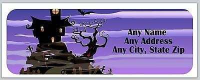 30 Personalized Address Labels Halloween Buy 3 get 1 free (ac184)