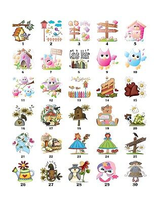 30 Square Stickers Envelope Seals Tags Primitive Country Buy 3 get 1 free (pc1)