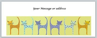 30 Personalized Cats Return Address Labels Buy 3 get 1 free (bo224)