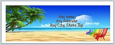 30 Personalized Return Address Labels Beach Buy 3 Get 1 free(c694)