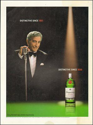 2002 Print Ad for Tanqueray Gin with Tony Bennett(101016)