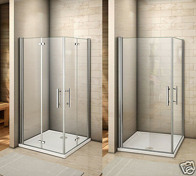 Aica Frameless Pivot Hinge Shower Enclosure and Tray Glass Cubicle Door Panel