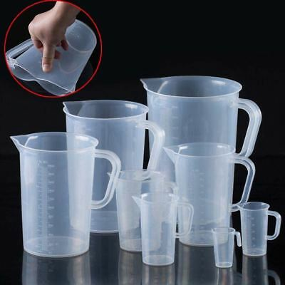 Plastic Measuring 250-2000ml Cup Pitcher Jug Pour Spout Kitchen Tool With Handle
