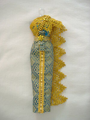 Thai Style Barbie Doll Dress (Turquoise)