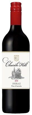 Church Hill Shiraz 2015 (12 x 750mL), SE AUS.