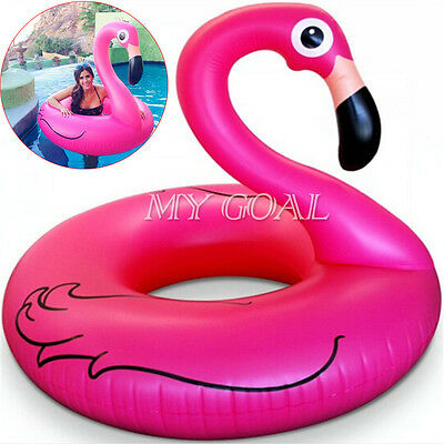 Giant Inflatable Flamingo Pool Float Ring Raft Summer Swimming Water Fun Toy