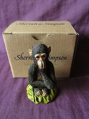 Sherratt & Simpson Chimpanzee with Hand Over Mouth 55420 *New*