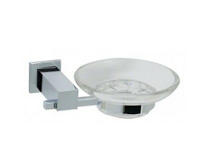 6 x Brewers QUSD Chrome Scatola Accessories Soap Dish - New, RRP $150.00
