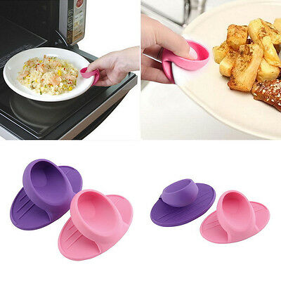 Kitchen Dishes Silicone Oven Heat Insulated Finger Glove Mitt Protector Hot