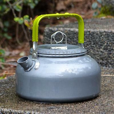 0.8L Portable Outdoor Hiking Camping Survival Water Kettle Teapot Coffee Pot Bag