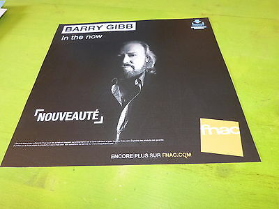 Barry Gibb - In The Now !!plv 30X30 Cm !!french Record Store Promo Advert