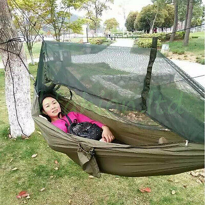 Camping Travel Portable Hammock Mosquito Net Garden Outdoor Parachute Swing Bed