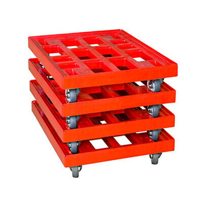 Transportroller 810x610 mm rot 4er Pack