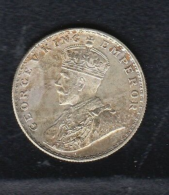 British India Silver Coin , Rupee 1918 Year