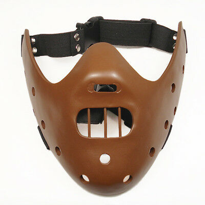 New Silence of the Lambs Hannibal Lecter Brown Resin Prop Replica Mask M11