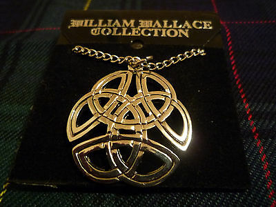 Celtic Scottish Necklace Pendant Knot Design William Wallace Collection Pewter