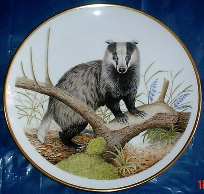 Wedgwood Spink Limited Edition BADGER Collectors Plate