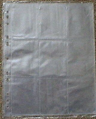 100 Budget Trading Card Storage Sleeves 9 Pocket Pages