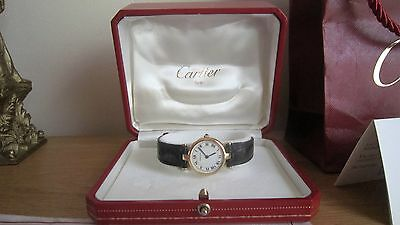 Cartier Vendome Lc 18K Solid Gold Watch