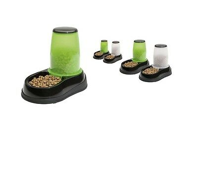 MAELSON FEEDOGRAVITY FOOD DISPENSER PET FEEDER - GREEN / WHITE dog cat