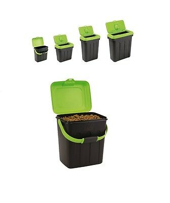 Maelson Dry Box Dog / Cat / Pet Food Storage Box Container - Green & Black