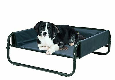 MAELSON SOFT RAISED DOG BED  / DELUXE CUSHION PAD - ANTHRACITE GREY dog cat