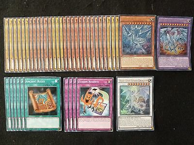 Yu-Gi-Oh 42 Card Neo Blue-Eyes Ultimate Dragon Deck  *ready To Play* Preowned