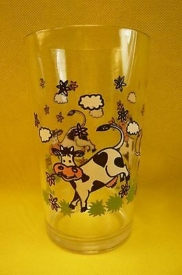 Vintage Morning Star China Frolicking Cow Drinking Glass-5""