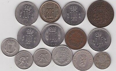 14 Coins From Luxembourg Dated 1860 To 1980