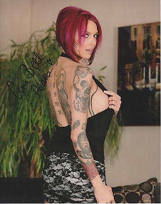 ANNA BELL PEAKS Adult Video Star SIGNED 8X10 Photo