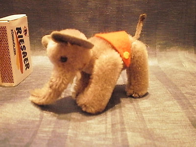 """VINTAGE SCHUCO ELEPHANT 2.75"""" WITH TEETH TAIL and FELT COVER"""