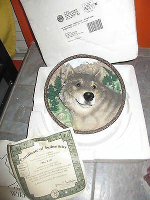 FACES OF THE WILD Collection THE WOLF 3d Plate 1st Issue with COA