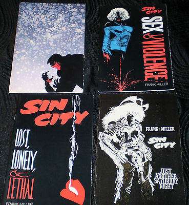 Sin City x3 Lost Lonely Lethal Sex Violence Silent Night Frank Miller Dark Horse