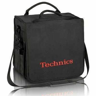 Technics Backpack 12 Inch Vinyl Record Bag (black with red logo)