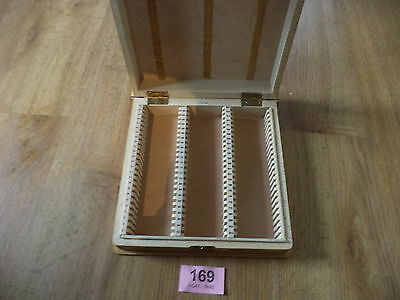Vintage slides box photo slide wooden book shaped box