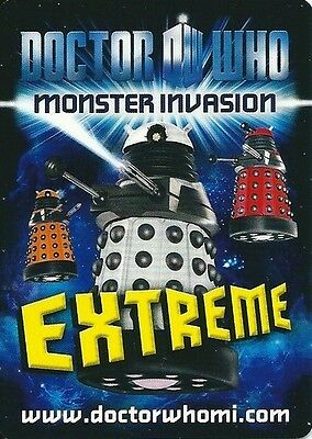 Doctor Who Monster Invasion Extreme RARE OR SUPER RARE FOILS...CHOOSE