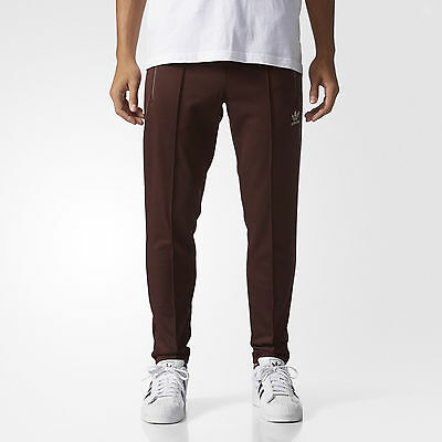 2016ADIDAS ORIGINALS FALLEN FUTURE FITTED TRACK PANTS BR1800 Mystery Brown slim