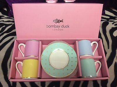 bombay duck espresso cup gift set new in box