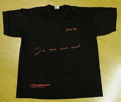 """Jeanne Mas Merchandising  Olympia 2001 Tee-Shirt """"je Vous Aime Ainsi """" T Xl"""