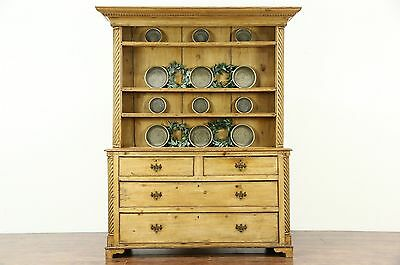 Country Pine 1860's Antique Sideboard, Pewter Cupboard, Welsh Dresser, Scotland